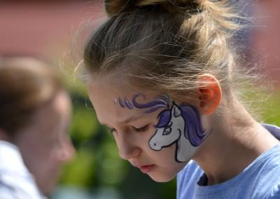 Kucyk namalowany na twarzy